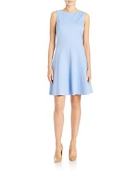 Lord And Taylor Ponte Fit And Flare Dress Hydrangea