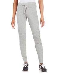 Steve Madden Pintuck Moto Jogger Pants Cloud Cove