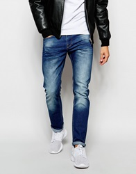 New Look Faded Skinny Fit Jeans Brightblue
