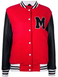 Manokhi Varsity Jacket Red