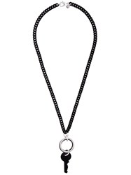 Maison Martin Margiela Mm6 Key Necklace Black