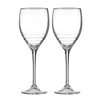 Vera Wang Wedgwood Grosgrain Platinum Goblets Set Of 2