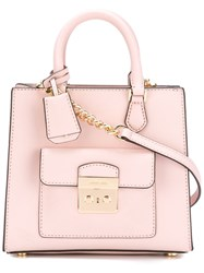Michael Michael Kors Front Pocket Tote Pink And Purple