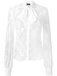 Ermanno Scervino Sheer Lace Shirt White