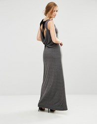 Little Mistress Jersey Maxi Dress Grey