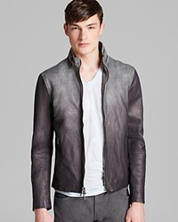 John Varvatos Ombre Leather Jacket Nickel