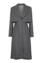 French Connection Kruger Tencel Oversized Trench Coat Green