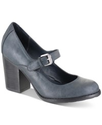 Mia Susy Mary Jane Pumps Women's Shoes Navy