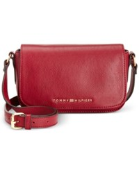 Tommy Hilfiger Claire Small Flap Crossbody Cabernet