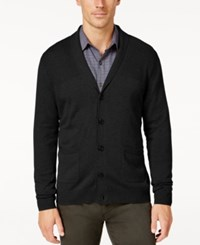 Tasso Elba Men's Big And Tall Faux Suede Shawl Collar Cardigan Only At Macy's Deep Black