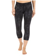 Smartwool Phd Printed Capris Charcoal Black Women's Capri Gray