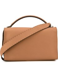 Fendi 'Selleria' Boston Tote Brown