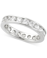 Macy's Diamond Channel Set Eternity Band 2 Ct. T.W. In 14K White Gold