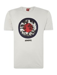 Merc Short Sleeve T Shirt With Target Scooter Print Light Grey