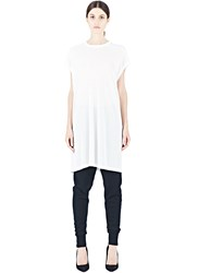 Rick Owens Long T Shirt Dress White