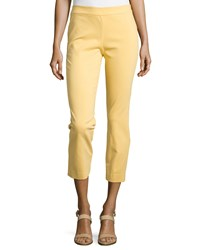 Natori Imperial Slim Ankle Pants Sunshine Yellow