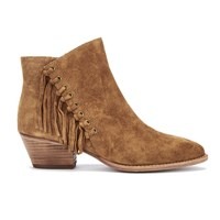 Ash Women's Lenny Suede Tassel Ankle Boots Russet