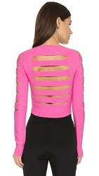 Cushnie Et Ochs Long Sleeve Crop Top Pink