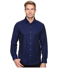Robert Graham Bernard Shirt Navy Men's Long Sleeve Button Up