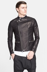 Helmut Lang Leather Moto Jacket Black