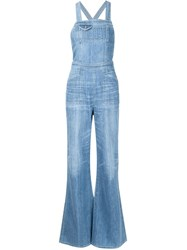 Citizens Of Humanity Flared Dungarees Blue