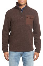 Men's Timberland 'Branch River' Quarter Zip Fleece Sweater Coffee Bean Heather