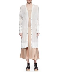Rag And Bone Noreen Long Lightweight Cardigan White