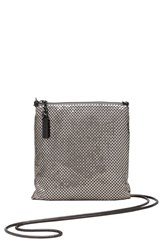 Whiting And Davis Crossbody Bag Grey Pewter