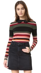 Red Valentino Striped Sweater Salvia