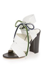 Msgm Espa High Heel Sandals White