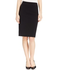 Kasper Crepe Knee Length Skirt Black