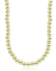 Lord And Taylor Goldtone Beaded String Necklace