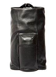 Campbell Cole Leather Backpack Black