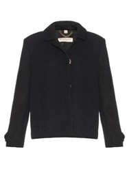 Burberry Foxclover Layered Mesh Jacket Black