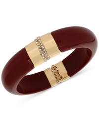 Inc International Concepts M. Haskell For Gold Tone Resin Hinged Bangle Bracelet Only At Macy's Red