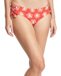 Michael Michael Kors Lace Up Print Swim Bottoms Pink Pattern