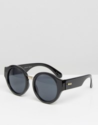Minkpink Mink Pink Spin Out Round Sunglasses Black Smoke Mono