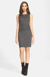 Atm Anthony Thomas Melillo Engineered Rib Sleeveless Sweater Dress Charcoal Heather