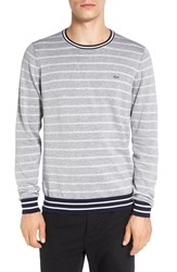 Lacoste Men's Stripe Crewneck Sweatshirt