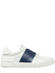 Valentino Open Color Block Leather Sneakers