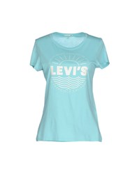 Levi's Red Tab Topwear T Shirts Women Sky Blue
