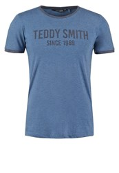 Teddy Smith Tristan Print Tshirt Blue Worked