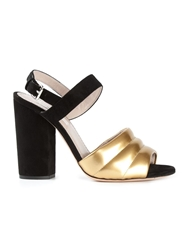 Marc Jacobs Padded Toe Strap Sandals Black