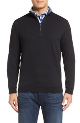 Bugatchi Men's Quarter Zip Knit Pullover Sweater