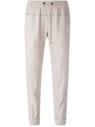 Brunello Cucinelli Tweed Track Pants Nude And Neutrals