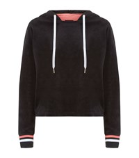 Juicy Couture Behati Velour Pullover Female Black