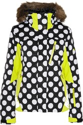 House Of Holland Roxy Polka Dot Dry Flight Shell Ski Jacket Black