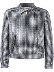 Thom Browne Checked Jacket Blue