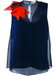 Delpozo Sleeveless Blouse Blue