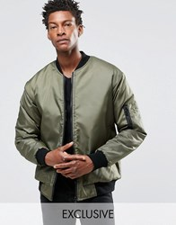 Reclaimed Vintage Ma1 Reversible Bomber Jacket Green